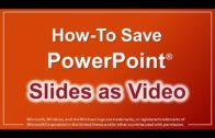 How to save video from powerpoint