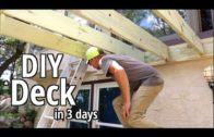 How to Build a deck- DIY Style -in 3 days Step by step Beginners guide