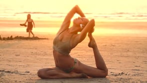 Yoga. Sex on the beach